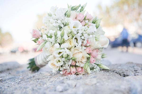 εκρου-τριανταφυλλα-ανθοδεσμη-γαμου