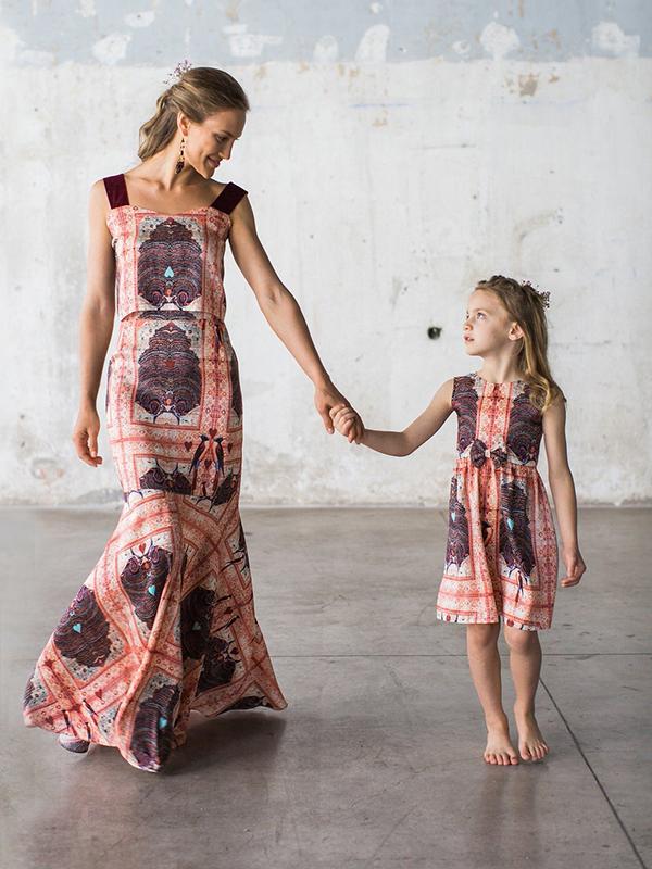 2901b436b3a Mommy and me φορέματα για κοριτσάκια & μαμάδες | Κάτια Δελατόλα ...