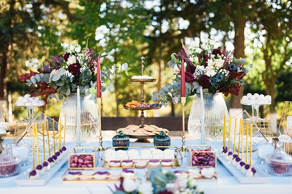 d6d2b5d17648 Elegant chic διακόσμηση γάμου σε φθινοπωρινές αποχρώσεις - EverAfter