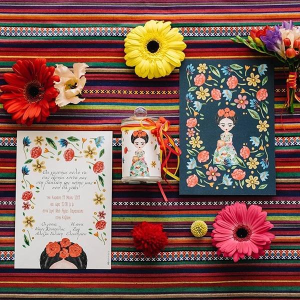 colorful-bohemian-baptism-ideas-theme-frida-kahlo_04