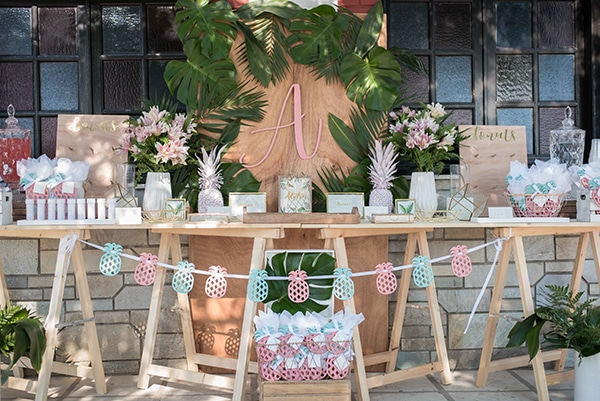 unique-tropical-theme-summer-baptism-decoration-ideas-pink-mint-hues_01