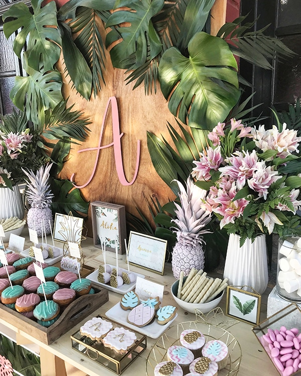 unique-tropical-theme-summer-baptism-decoration-ideas-pink-mint-hues_01z