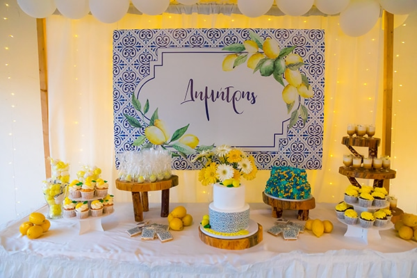 fall-boy-baptism-theme-blue-tiles-lemons-yellow-blue-hues_12