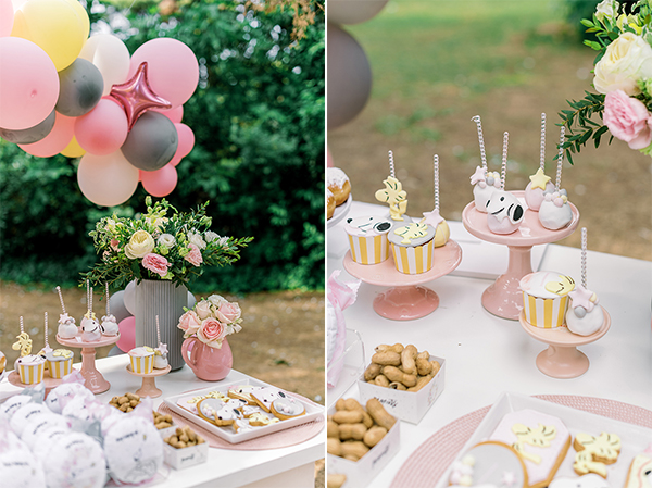 unique-girl-baptism-ideas-pink-yellow-hues-themed-snoopy_02A