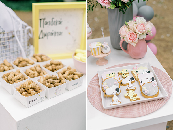 unique-girl-baptism-ideas-pink-yellow-hues-themed-snoopy_12A