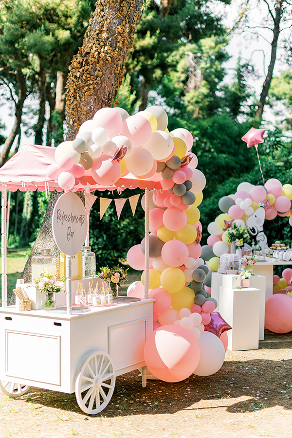 unique-girl-baptism-ideas-pink-yellow-hues-themed-snoopy_22